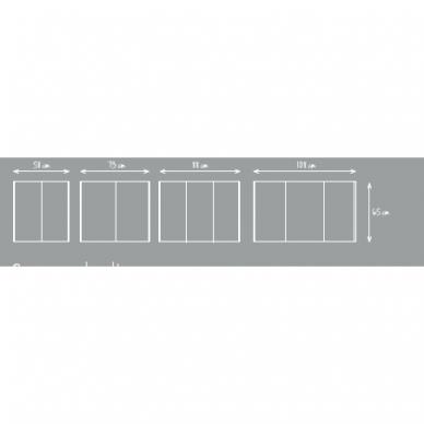 Veidrodinė spintelė Joy su Led apšvietimu 60, 75, 90, 110 cm 3