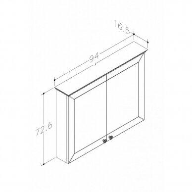 Veidrodinė spintelė RB Siesta 65, 79, 94 cm 2