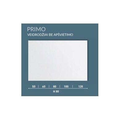 Veidrodis be apšvietimo Kamė Primo 50, 60, 80, 100, 120 cm 4