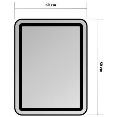 Veidrodis Blu Leon su LED apšvietimu, 60x80 cm 2