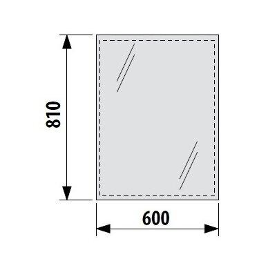 Veidrodis JIKA Clear 60 cm 2