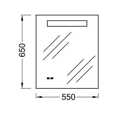 Veidrodis Kohler su LED apšvietimu, laikrodžiu 2