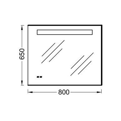 Veidrodis Kohler su LED, IP 44 laikrodis 80, 100 cm 3