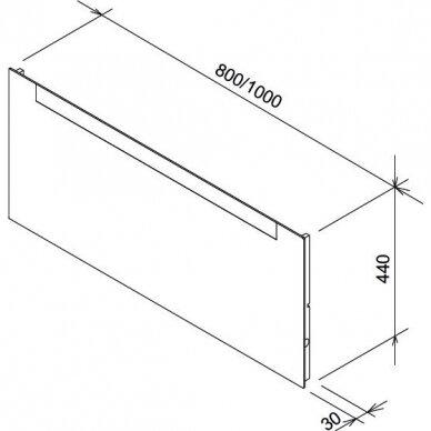 Veidrodis Ravak Clear 800/1000 3