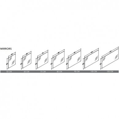 Veidrodis RB ECO 50, 60, 75, 80, 90, 100, 120 cm 4