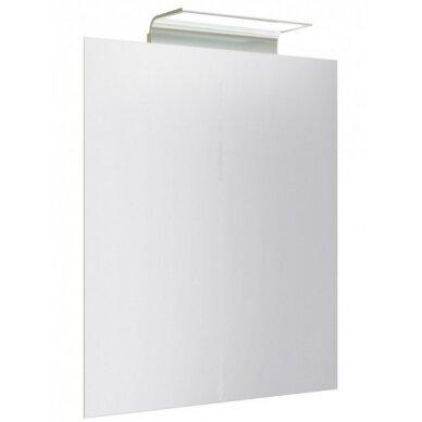 Veidrodis su aliuminio šviestuvu Kame Wave 50x80 cm