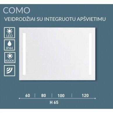 Veidrodis su integruotu apšvietimu Kame Como 60, 80, 100, 120 cm 4