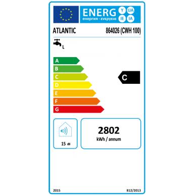 Vertikalus kombinuotas vandens šildytuvas Atlantic Combi O'Pro 100; 100 l (senas k. 864023) 3
