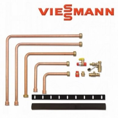 Viessmann šilumos siurblių priedas - Hidraulinis prijungimo komplektas į kairę arba į dešinę