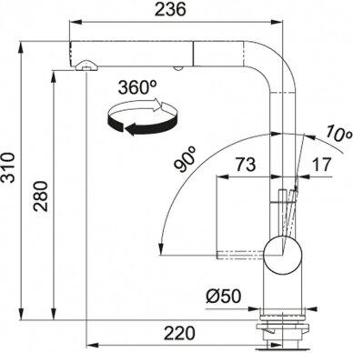 Virtuvinės plautuvės maišytuvas Franke Active-Plus (įv. spalvų) 3
