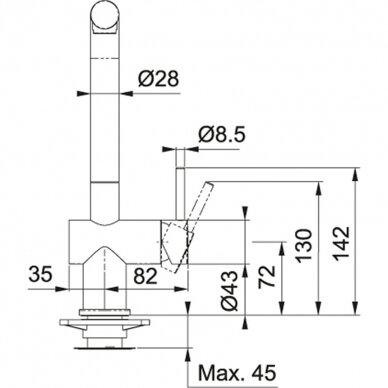 Virtuvinės plautuvės maišytuvas Franke Active-Plus (įv. spalvų) 4