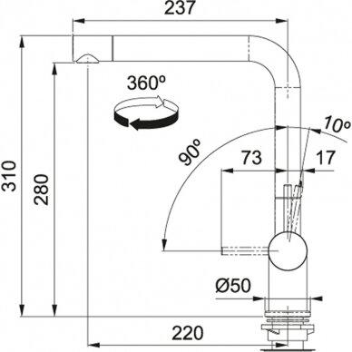 Virtuvinės plautuvės maišytuvas Franke Active-Plus (įv. spalvų) 8