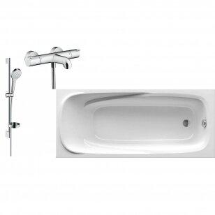 Vonia Ravak ir termostatinis dušo maišytuvas Hansgrohe