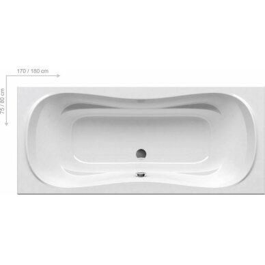 Akrilinė vonia Ravak Campanula II 170, 180 cm su kojomis 2