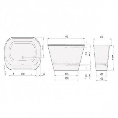 Vonia PAA SilkStone Deco Rim Graphite 166 cm 3