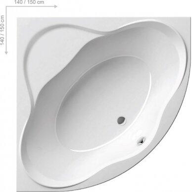 Akrilinė vonia Ravak NewDay 140, 150 cm 3