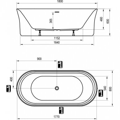 Vonia Ravak Ypsilon 180 cm 3