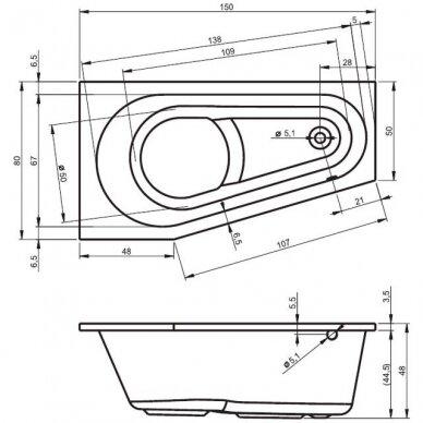 Vonia Riho Delta 150, 160 cm 4