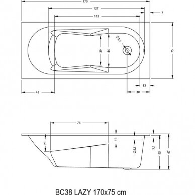 Vonia Riho Lazy 170, 180 cm 5