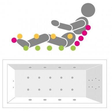Vonia Villeroy & Boch Oberon su masažine sistema Combipool comfort 4