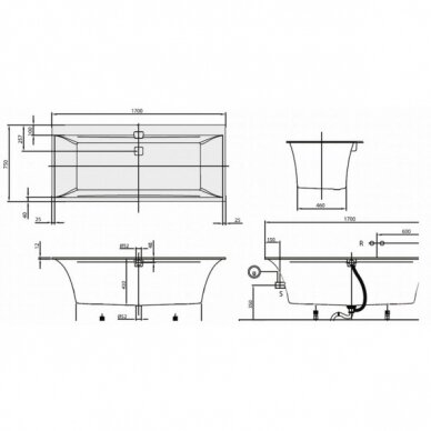 Vonia Villeroy&Boch Squaro Edge 170-180 cm 4