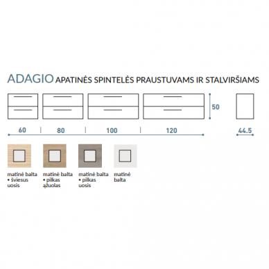 Vonios baldų komplektas Adagio 100 2 dalių 7