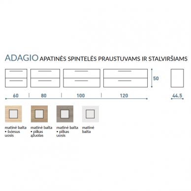 Vonios baldų komplektas Adagio 120D 4 dalių 11