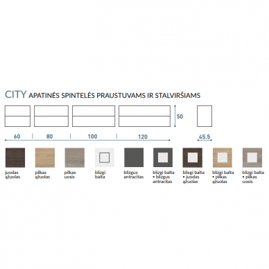 Vonios baldų komplektas City 120 4 dalių 8