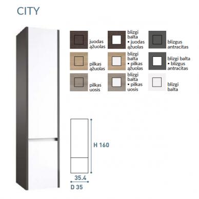 Vonios baldų komplektas City 120 4 dalių 10