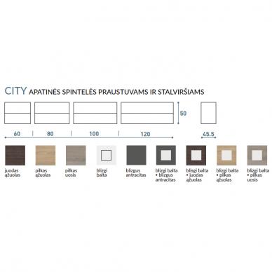 Vonios baldų komplektas City 60 3 dalių 9