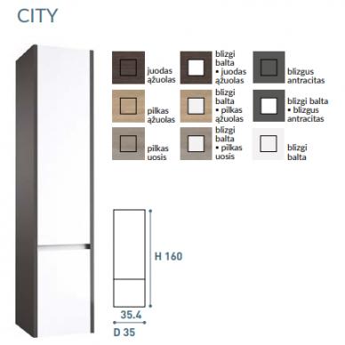 Vonios baldų komplektas City 60 3 dalių 11