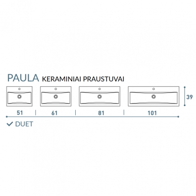 Vonios baldų komplektas Duet 80 2 dalių 9