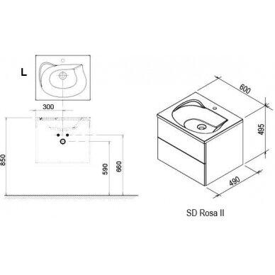 Vonios baldų komplektas Ravak Rosa II (įv. spalvų) 9