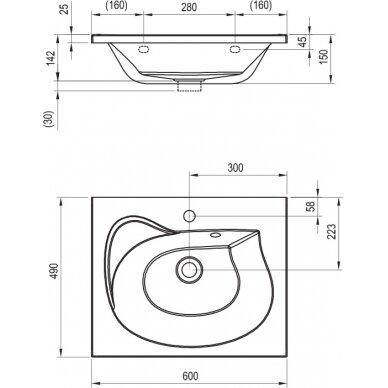 Vonios baldų komplektas Ravak Rosa II (įv. spalvų) 7