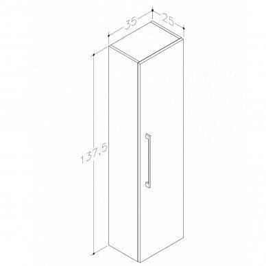 Vonios baldų komplektas Scandic 100 9