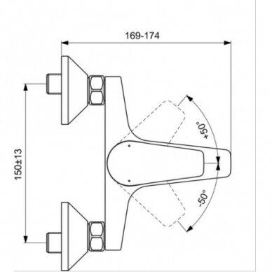 Vonios ir dušo maišytuvas Ideal Standard Cerafine D 2