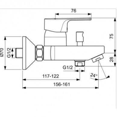 Vonios ir dušo maišytuvas Ideal Standard Cerafine D 3