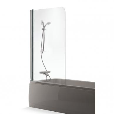 Vonios sienelė Baltijos Brasta Maja 70, 80, 90, 100 cm su skaidriu stiklu