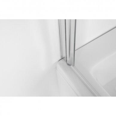 Vonios sienelė Baltijos Brasta Maja 70, 80, 90, 100 cm su skaidriu stiklu 4