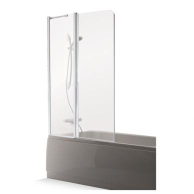 Vonios sienelė Brasta Glass Maja Plius 70, 80, 90, 100 cm su skaidriu stiklu