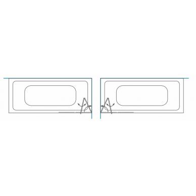 Vonios sienelė Brasta Glass Berta 80, 90, 100, 110 cm 2