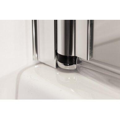 Vonios sienelė Brasta Glass Berta 80, 90, 100, 110 cm 3