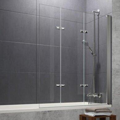 Vonios sienelė Huppe Design pure 120 cm