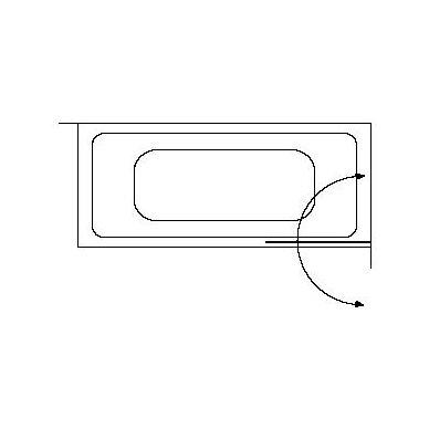 Vonios sienelė Brasta Glass Meda 70, 75, 80 cm 6
