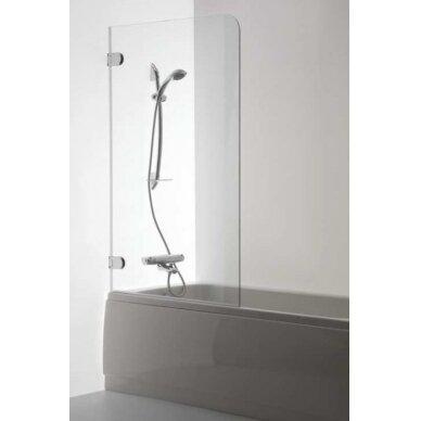 Vonios sienelė Brasta Glass Meda 70, 75, 80 cm