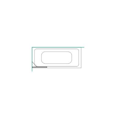 Vonios sienelė Brasta Glass Mija 70, 80, 90, 100 cm 7