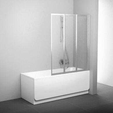 Vonios sienelė Ravak VS3 100, 115, 130 cm