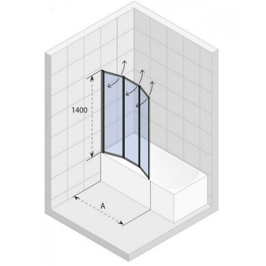 Vonios sienelė Riho Alta 100 cm 3