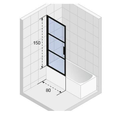 Vonios sienelė Riho GRID GB501 - 80 cm 2