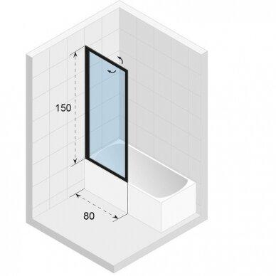 Vonios sienelė Riho Lucid GD501 80 cm 3